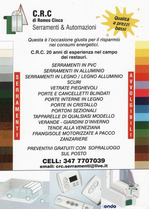 CRC Serramenti (volantino)